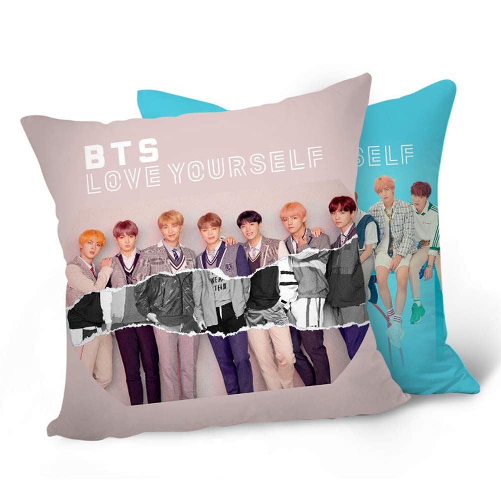 Amazon.com: Teblacker BTS Pillowcase | Kpop Bangtan Boys ...