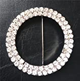 100pcs Metal pin brooch rhinestone for wedding events DIY, chair band/bow/hood/sash buckle