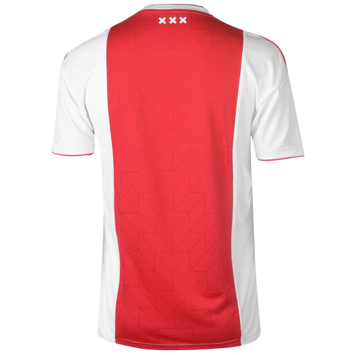cd4676206d0 Amazon.com : adidas 2018-2019 Ajax Home Football Shirt : Sports & Outdoors