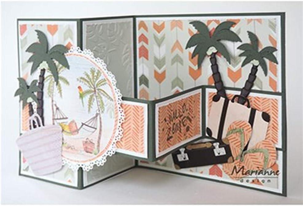 Marianne Design Embossing Folder Tropical Leaves