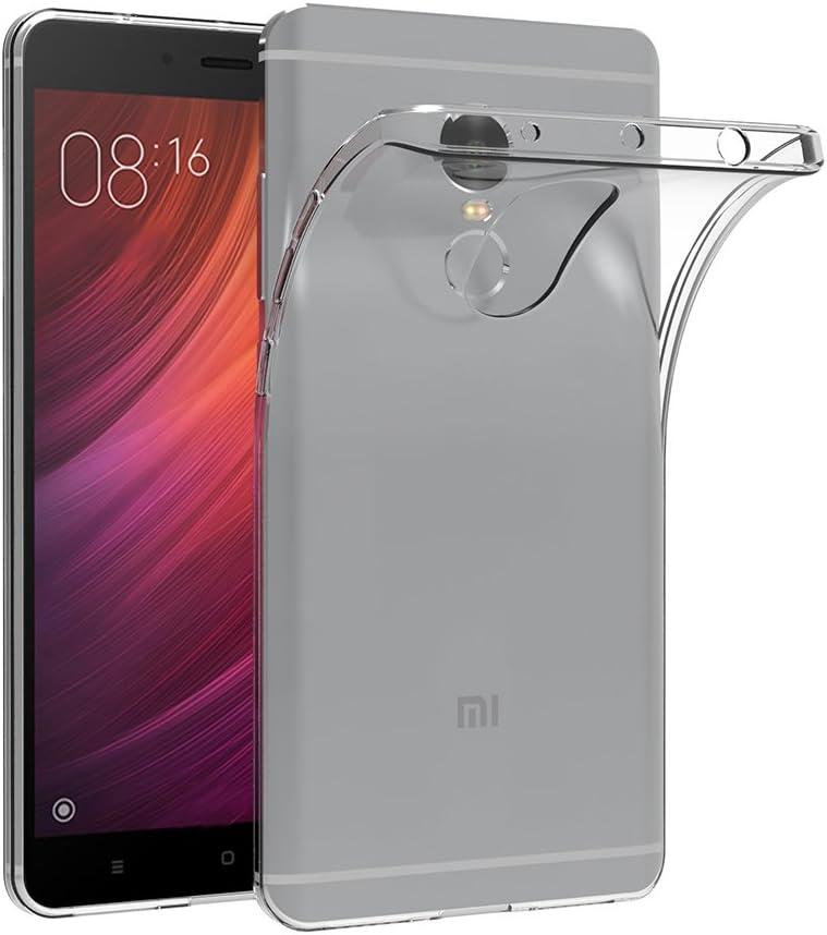"""Cover per Xiaomi Redmi Note 4, AICEK Cover Xiaomi Redmi Note 4 5.5"""" Silicone Case Molle di TPU Trasparente Sottile Custodia per Xiaomi Redmi Note 4"""