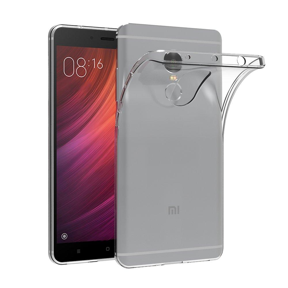 """كفر حافظة Xiaomi Redmi Note 4، AICEK غطاء Xiaomi Redmi Note 4 5.5 """"سيليكون كفر حافظة TPU نحيفة شفافة لاجهزة Xiaomi Redmi Note 4"""