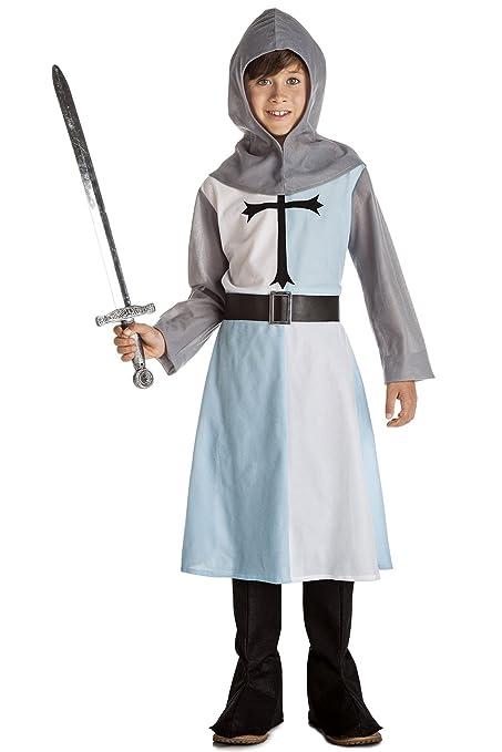 Disfraz de Caballero Medieval Azul (7-9 años): Amazon.es: Juguetes ...