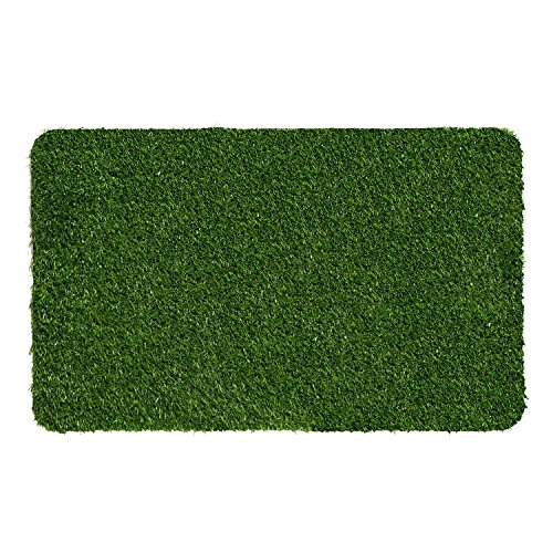 """32""""X20"""" Heavy Duty Green Artificial Grass Turf Carpet Rug Welcome Door Mat Synthetic Lawn Turf Carpet for Entrance Way & Porch, Outdoors and Indoors (Entrance Carpet)"""