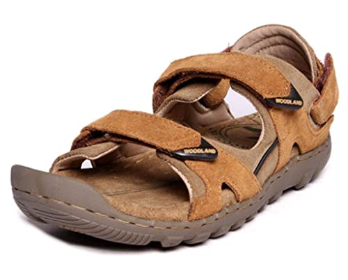 09038a40505 Woodland GD0491108W13 - Camel Casual Sandals for Men Size   (8 UK) or (42  Euro)  Buy Online at Low Prices in India - Amazon.in