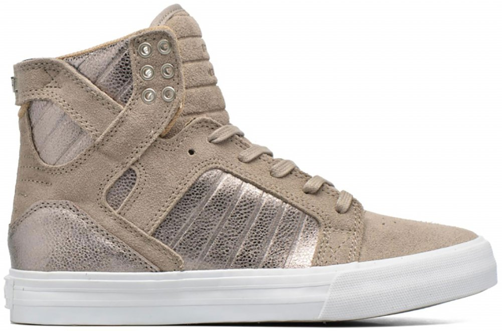 separation shoes 5984c 5cef3 Supra Skytop Womens Hi Top Trainers (SAMPLE) - Grey-4.5  Amazon.co.uk   Sports   Outdoors