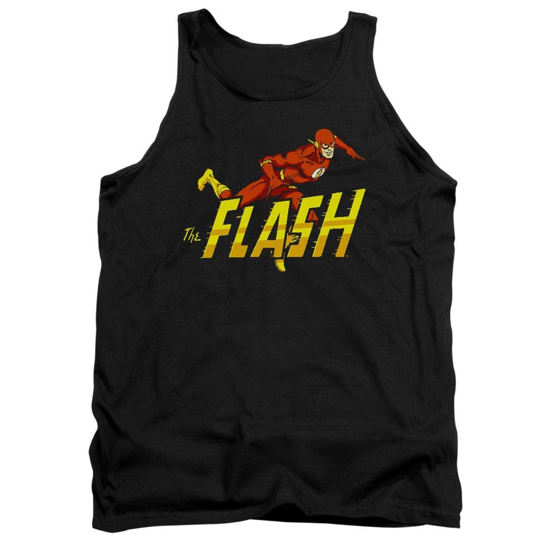 DC Comics Superhero 8 Bit Flash Adult Tank Top Shirt
