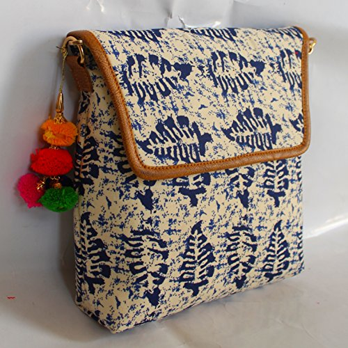 Bag Crossbody Blue Collections Zip Leaf Pocket Large Lonika XpCqc6