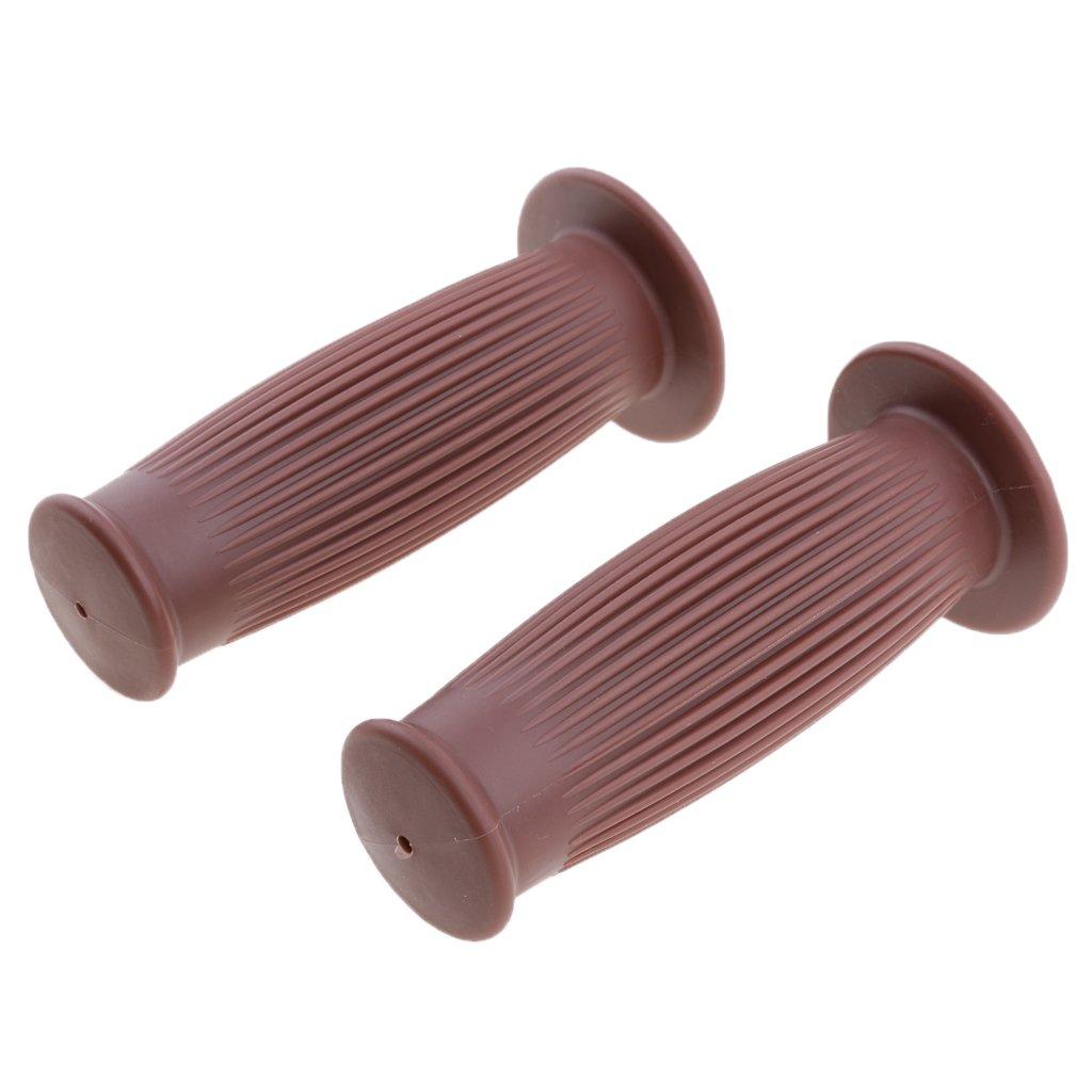 Sharplace 2 x MOTO Poign/ée de Guidon 25//28mm Antid/éparant En Caoutchouc R/ésistant /à Corrosion Noir
