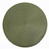 Cheap Flipped Round Place Mats Woven Table Mats Set of 6 for Indoor/Outdoor Dining,Parties and Kitchen Everyday Use (sage)