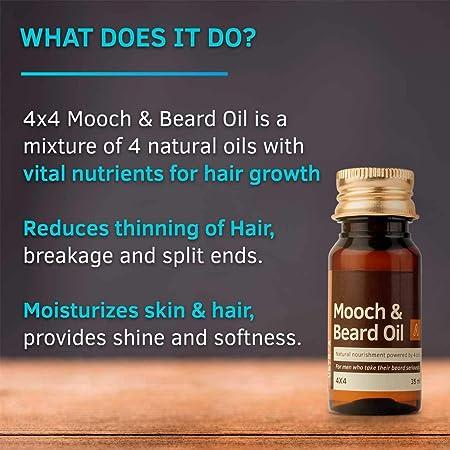 Glamorous Mart - Ustraa de intercambios y Beard 4x4 aceite para los hombres - 35 ml: Amazon.es: Belleza