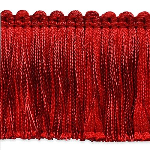 Cut Brush Fringe (Expo International Alina Brush Fringe Trim, 20 yd, Red)