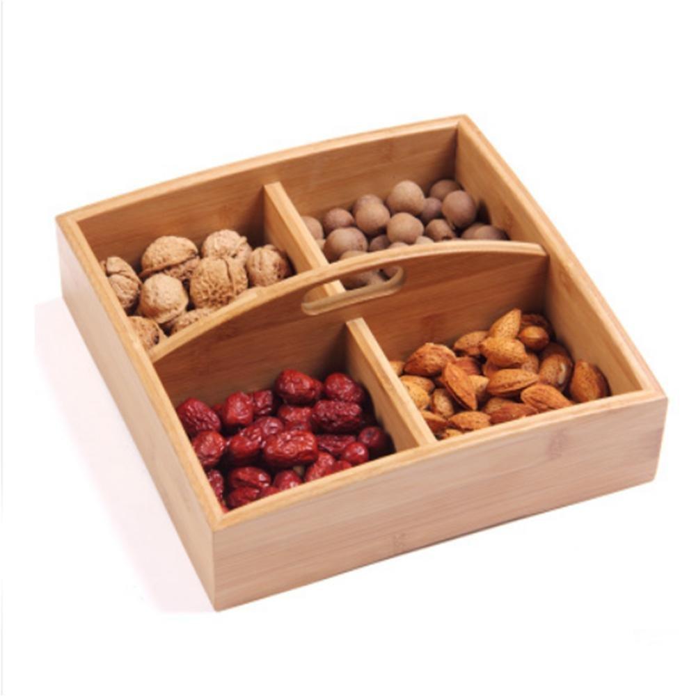 HUZHUANGZHUANG HZZymj-2 unids Caja de Fruta Caja de Fruta de Madera de China Caja de Dulces Caja de Regalo de año Sub-Grid con Caja de Frutas secas de Alto ...
