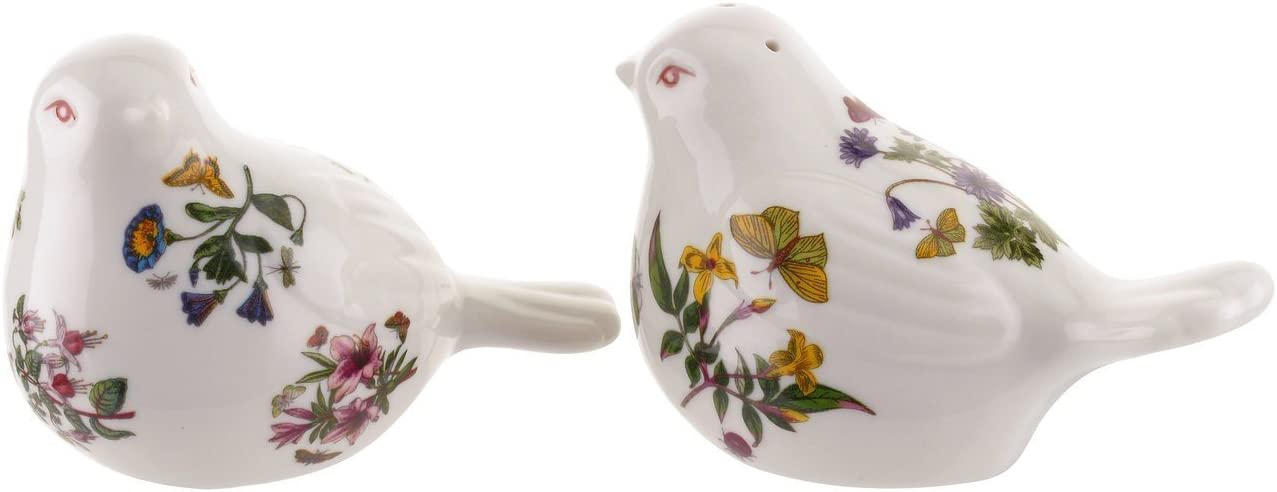 Portmeirion Botanic Garden Bird Shaped Salt & Pepper, White
