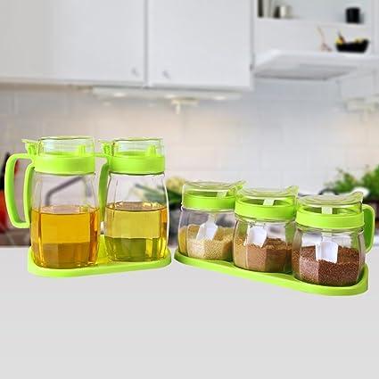 GBT Botella de condimentos Cuadros de condimentos plásticos, cajas de condimento de vidrio, salsa