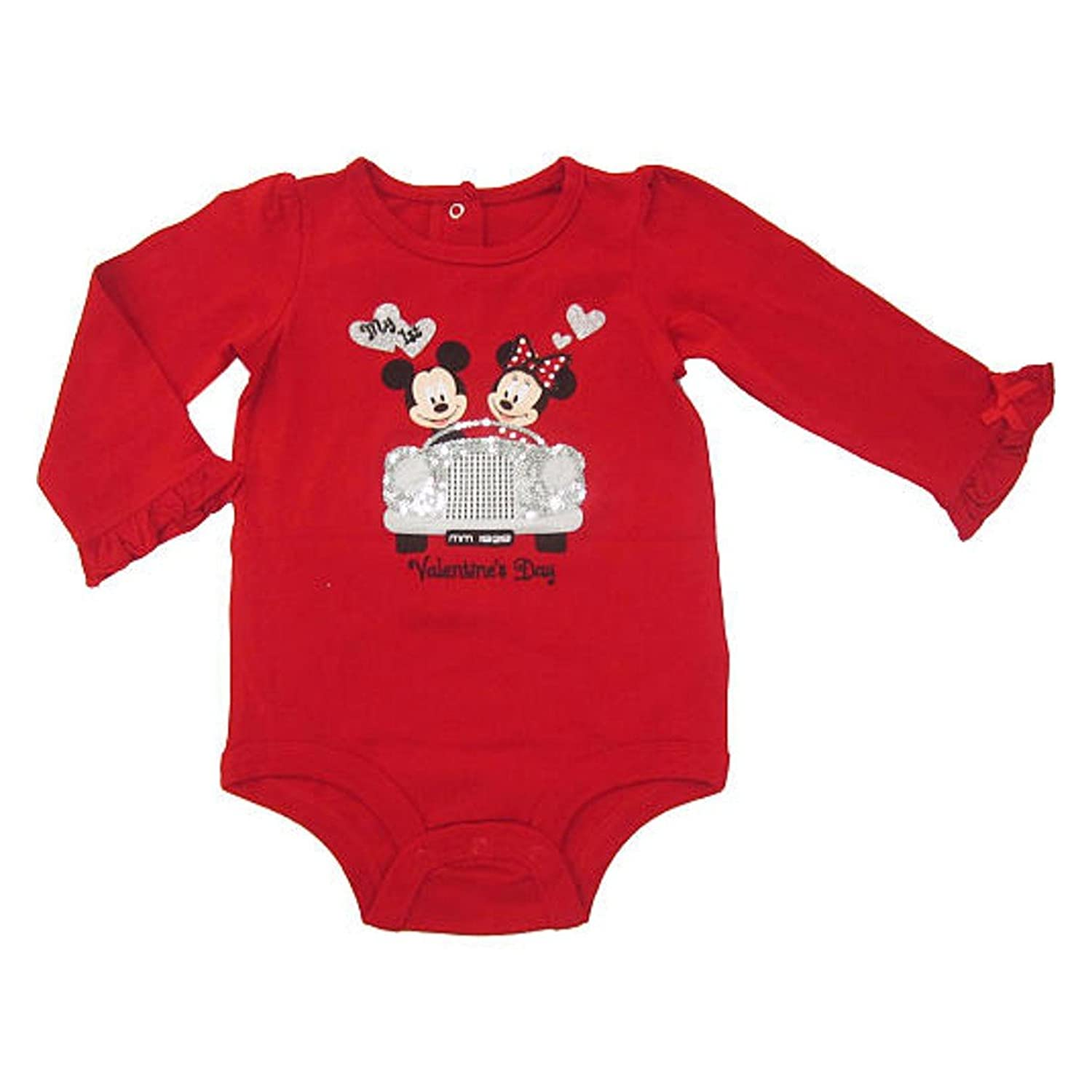 amazoncom disney mickey minnie mouse my first valentines day baby onesie dress up outfit newborn clothing - Baby Valentine