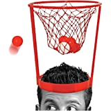 Amrka Headband Hoop Ball Toy Catching Basketball Kid Game Head Strap Party Favors Game with 20 Balls