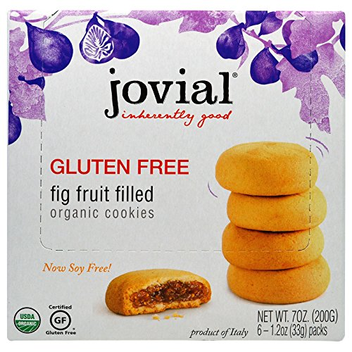 Jovial, Organic Cookies, Fig Fruit Filled, 6 Packs, 1.2 oz (33 g) Each - 2PC by Jovial