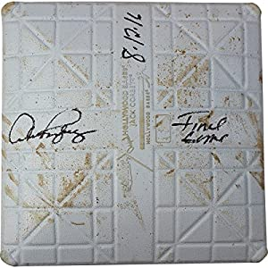 Alex Rodriguez Signed Rays at Yankees 8 12 2016 Game Used Second Base (Top of 1st Inn) w/Final Game 8/12/2016 Insc.