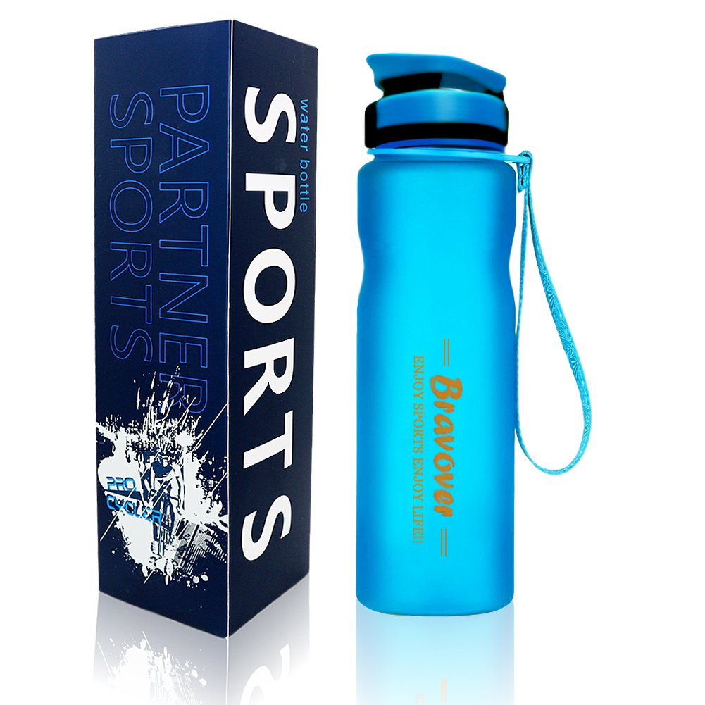 Leak proof bpa free water bottle 1 litre Eco Friendly Plastic - sports bottle for running, gym, yoga, outdoors and camping (Blue)