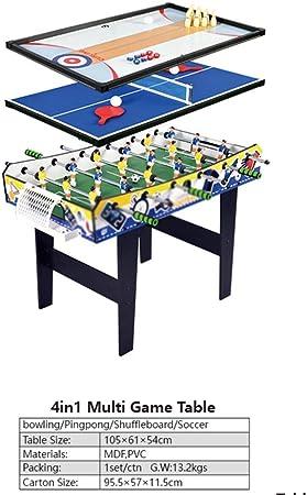 WNN-URG 4en1 Juego Multi Bowling/Ping-Pong tejo Tabla / / Fútbol fútbol de la Tabla, Cubierta de futbolín Juego de fútbol, la Familia de los niños de descompresión Casual Juegos de Salón URG: