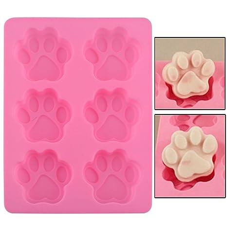 Molde 3D en silicona originales huellas perro reposteria Reutilizable, durable, antiadherente tarta para tu