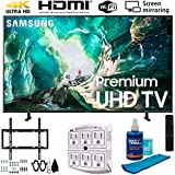 Samsung UN65RU8000 65' RU8000 LED Smart 4K UHD TV (2019) w/Deco Mount Flat Wall Mount Kit Ultimate Bundle, Screen Cleaner (Large Bottle) and SurgePro 6-Outlet Surge Adapter w/Night Light