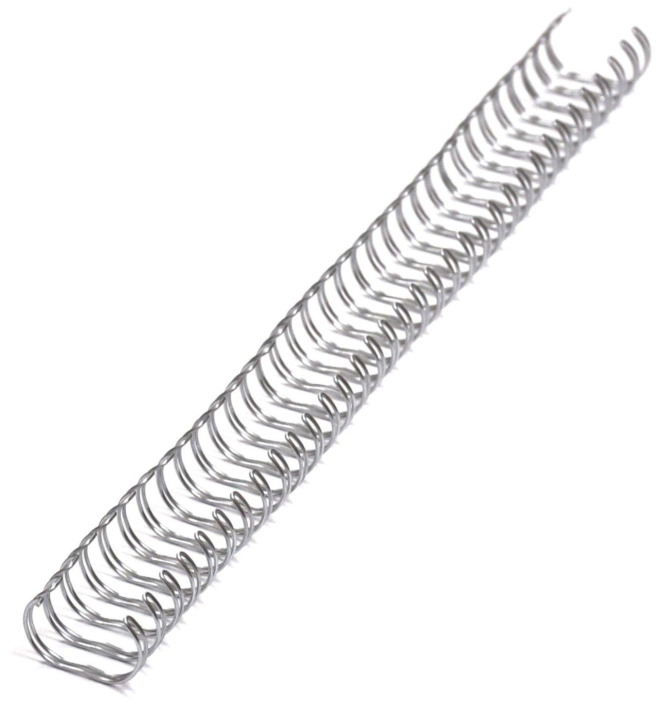 RECO Systems - Confezione da 100 dorsi metallici per rilegatura, ø 12,7 mm, colore: Argento RECOsystems RS3112790