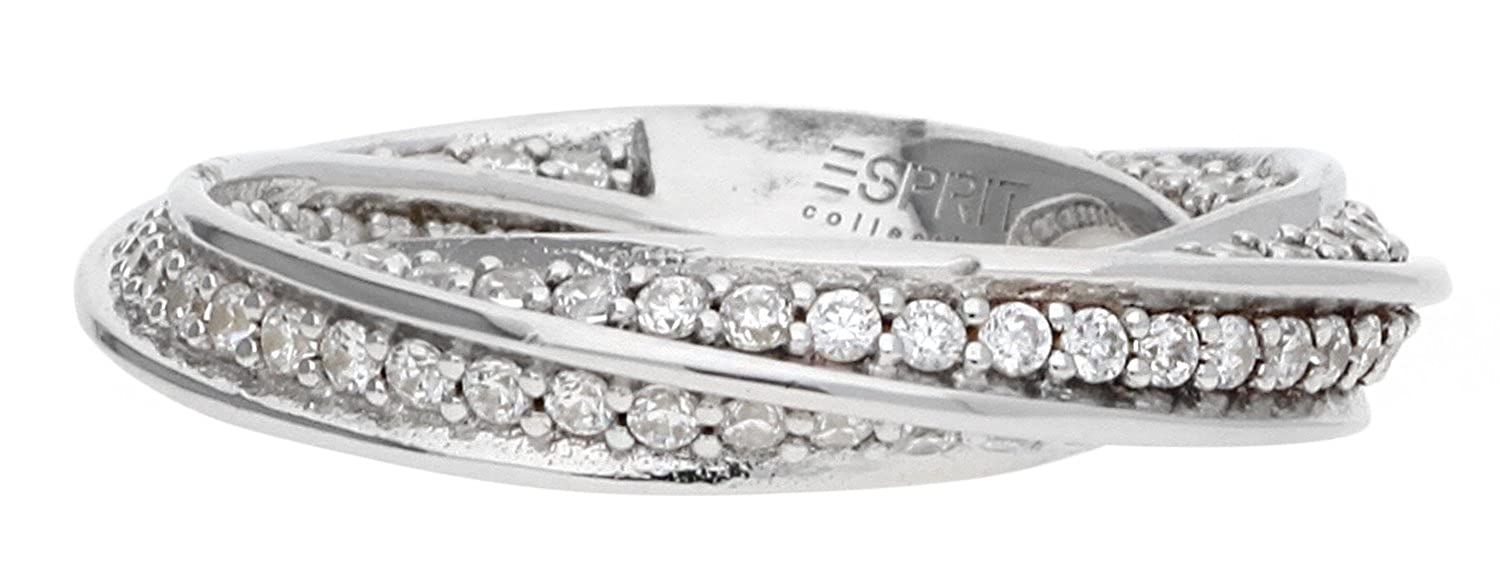 Esprit Collection Women Ring 925 Silver silver Olympia Glam ELRG91961A:  Amazon.co.uk: Jewellery