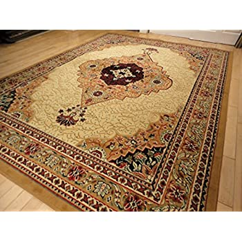 Large Traditional Beige 8x11 Rug Persian Area Rugs Tan And Cream 8x10 Living Room Bedroom
