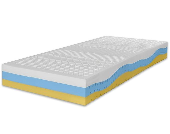 Marcapiuma - Colchón viscoelástico Individual Memory 80x180 Alto 23 cm - Onda Med - firmeza H2 Medio 11 Zonas - Producto Sanitario CE - Funda desenfundable ...