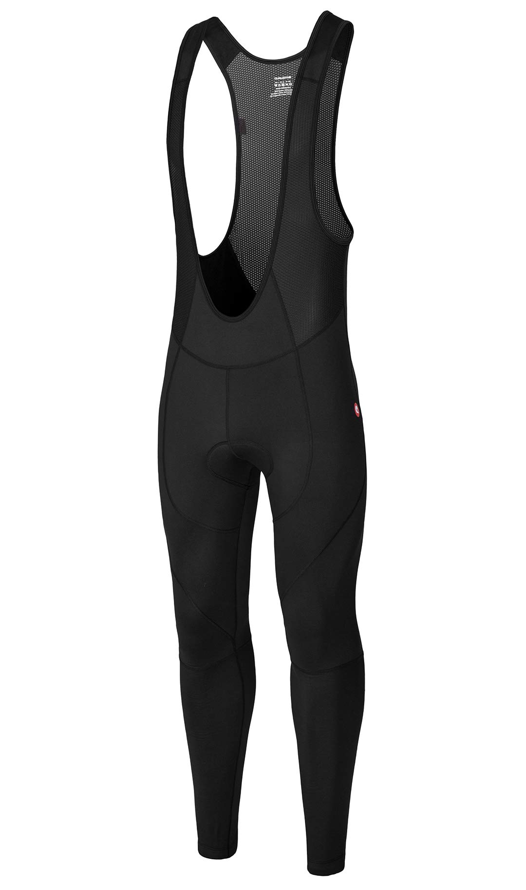 qualidyne Men's Cycling Bike Bib Pants 3D Padded Bike Tights Compression Bicycle Pants, Excellent Performance & Better Fit(Black,2XL) by qualidyne