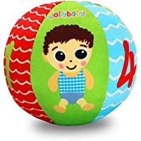 TOYANDONA Baby Soft Stuffed Ball Toy with Figures Hand Grasping Ball Math Educational Ball Toy with Bell Preschool…