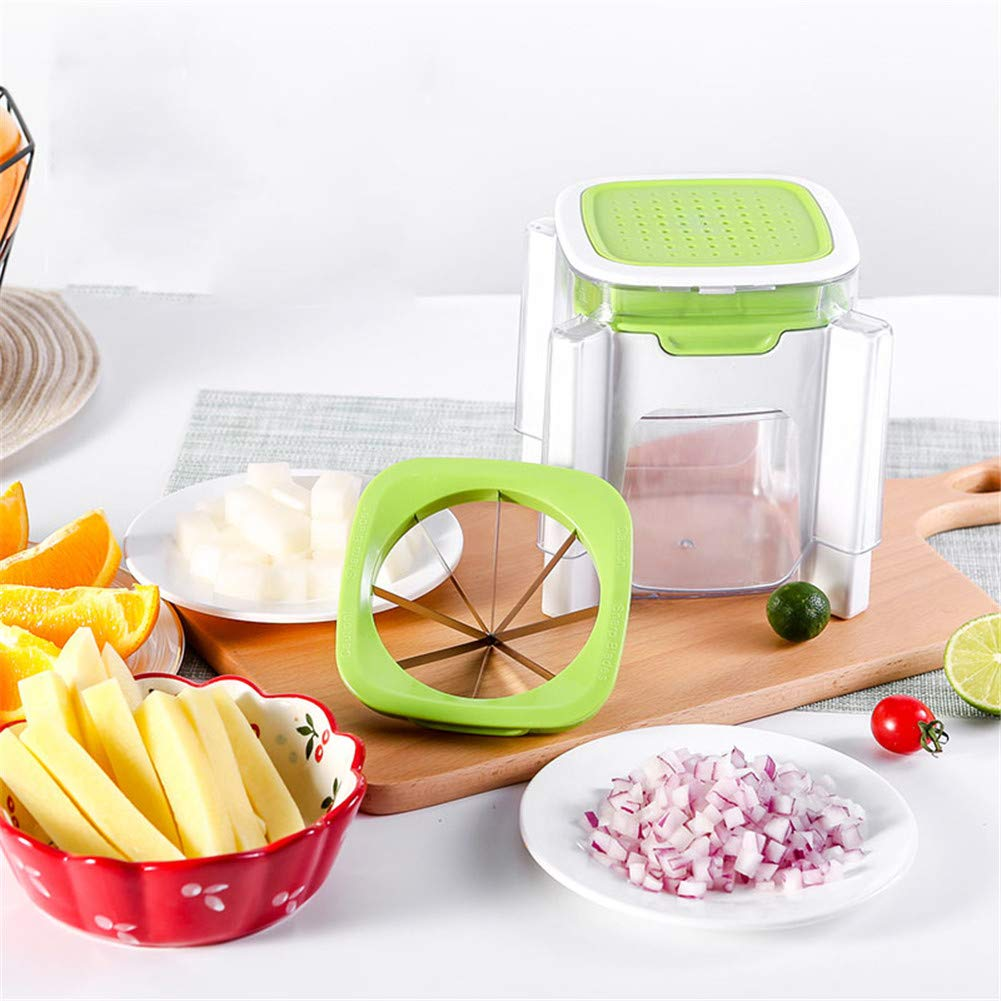 WLIXZ Fruit Cutterb for Potato Onion Fruit, Multi-Functional Household Tool Set, Stainless Steel Fruit Slicer by WLIXZ