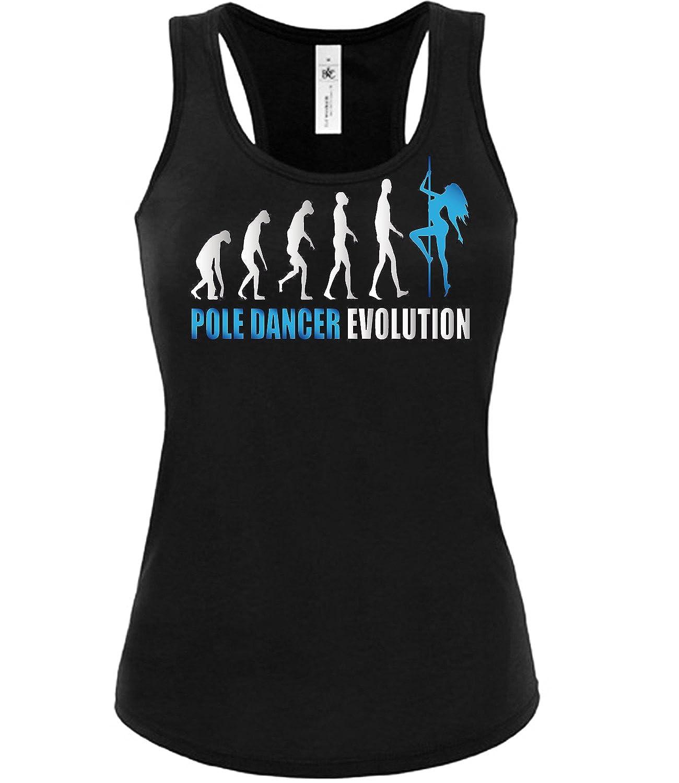 Pole Dancer Evolution Tanzsport Damen Fun Tank Top Funshirt 2023-tt-f