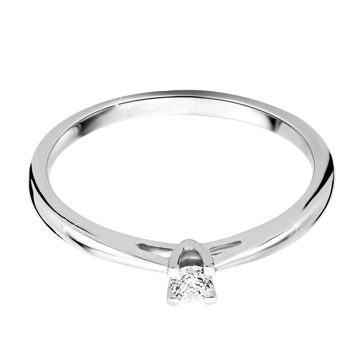 Orovi anillo de mujer solitario 0.07 Quilates diamantes en oro ...
