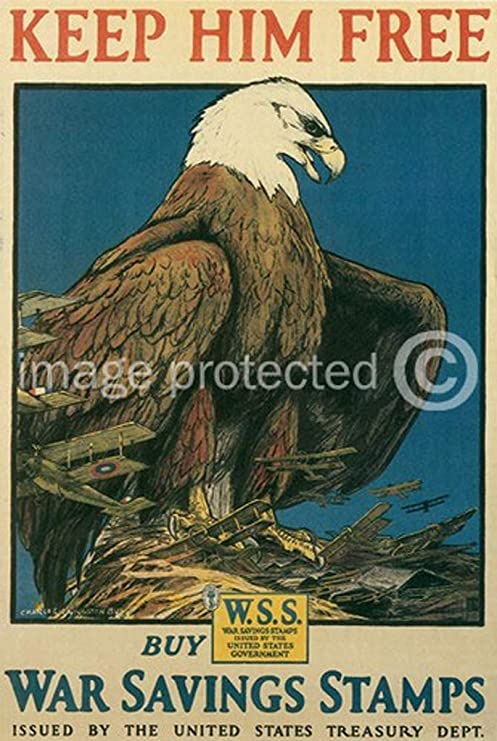 Help Him To Help US World War I Military Vintage Poster