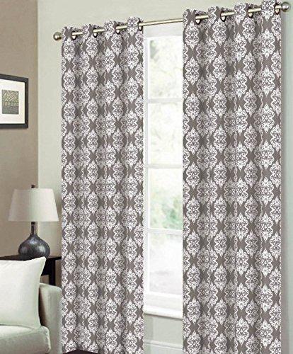 Luxurious Medallion Grommet Curtain 84 inch