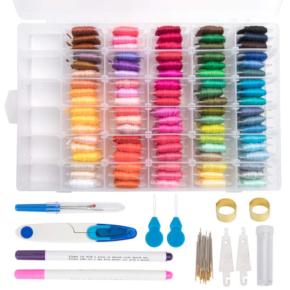 BCMRUN 14 Piece Aluminum Crochet Hooks Knitting Needles Craft Yarn, 2-10mm, Multicolor DGA20