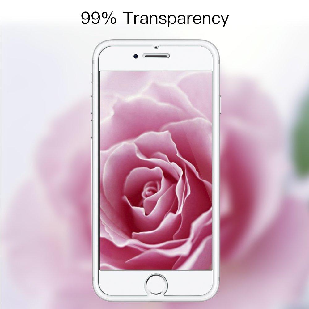 Panzerglas Schutzfolie für iPhone 7, [2 Stück] TUCNIPUS Panzerglasfolie -3D Touch Kompatibel, 9H Härte, Anti-Öl, Kratzer,Blasen und Fingerabdruck Displayschutzfolie für iPhone 7 (4.7 Zoll)