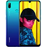 Huawei P Smart 2019 64 GB 6.21-Inch 2K FullView Dewdrop SIM-Free Smartphone with Dual AI Camera, Android 9.0, Single SIM, UK Version - Aurora Blue