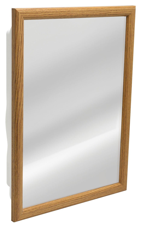 Zenith K268 Oak Framed Medicine Cabinet, 14.5'' x 21.75'' x 4.5''