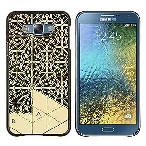 TaiTech / Prima Delgada SLIM Casa Carcasa Funda Case Bandera Cover Armor Shell Wood Texture - Arte Artesanía Encaje Talla - Samsung Galaxy E7 E700