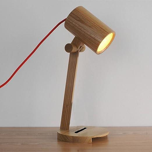 Modeen Lámpara de Mesa de Bambú Ajustable Japonés Luz Simplicidad ...