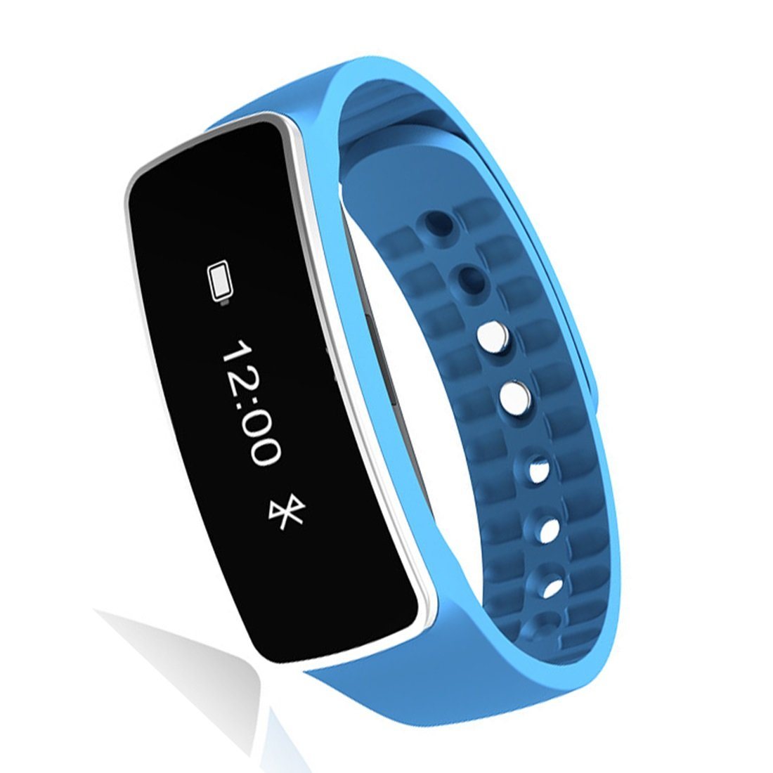 HDWY Smart Bracelet With Step Counter Calorie Sleep Monitor Distance Sport Watch Walking Running App For Woman And Man (Quantity: 2) (Color : Blue)