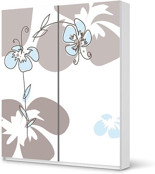 decorativos autoadhesivos para Ikea Pax Armario 236 cm de altura – Puerta corredera Decoración Muebles adhesivo adhesivo Muebles | Configuración Decorar DIY | Diseño Ornament Flowers 2: Amazon.es: Hogar
