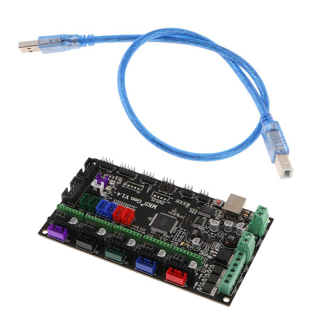FLAMEER Placa de Control de Impresora 3D Cable USB MKS Gen V1.4 ...