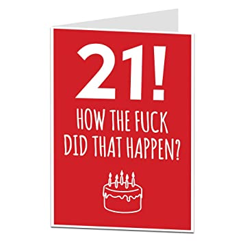 Funny 21st Birthday Card For Him Her Perfect Son Daughter Brothers Or Sisters Other