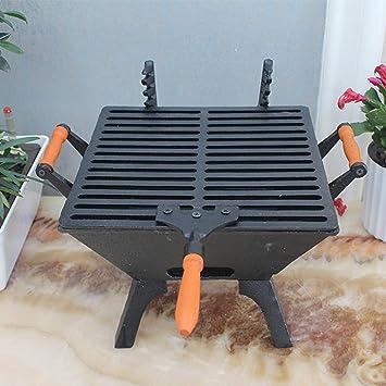 SLH - Estufa de Parrilla de Hierro Fundido con Parrilla de Carbono, Estufa de calefacción de carbón para decoración de jardín: Amazon.es: Hogar