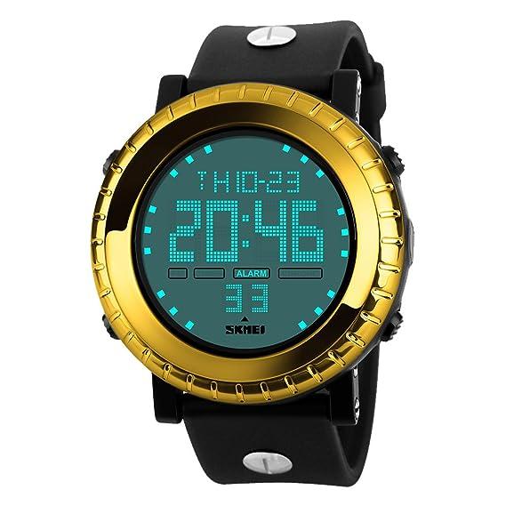 amstt Kinderuhren Niño Niños Reloj De Pulsera Analógico Digital Impermeable Reloj Deportivo con retroiluminación Alarma electrónica